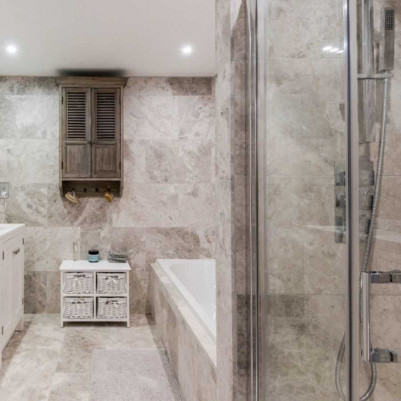 Silver Honed Limestone Tile
