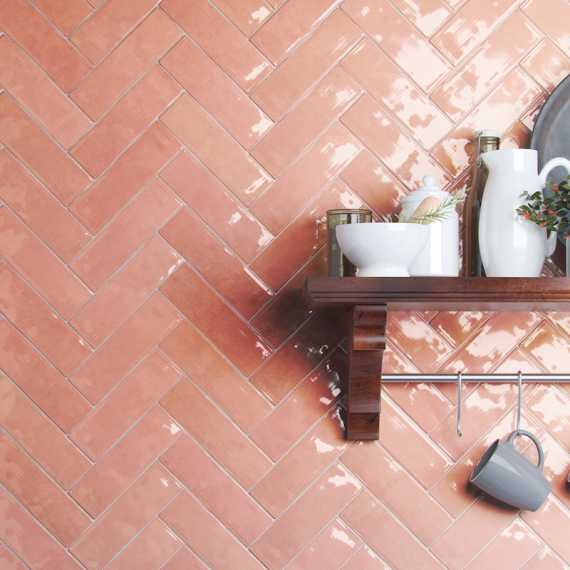 La Mayor Rosa Wall Tile pink tile bathroom or kitchen wall tile