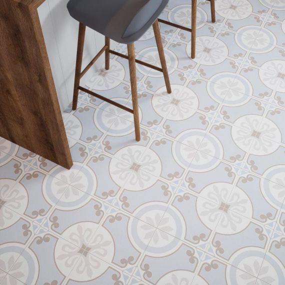 Riberia Blue Pre-Scored Matt Glazed Ceramic Tile