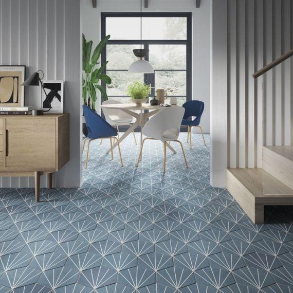 Lilypad Sea Blue 8.7mm Matt Glazed Tile
