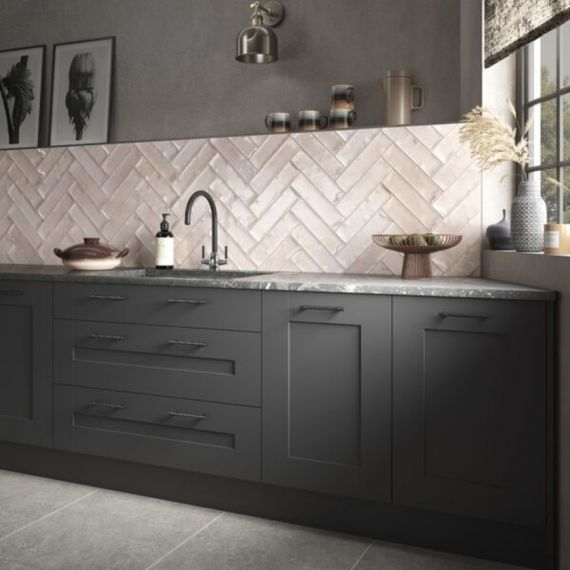 Hope rose pink Gloss Ceramic Wall 75x300mm