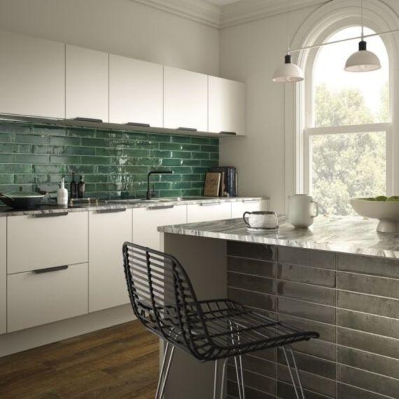 Hope Ash Grey Gloss Ceramic Wall 75x300mm