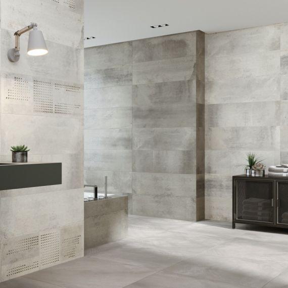 Vulcano Silver Ceramic Wall Tile