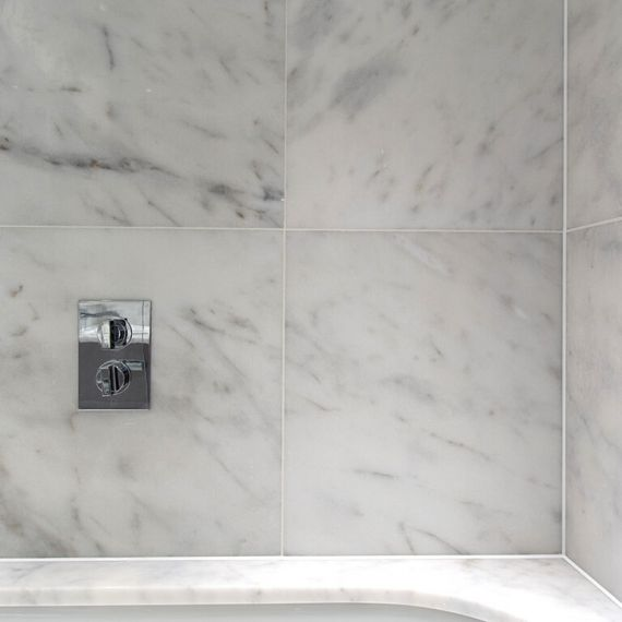 Carrara Bianco Honed Marble Wall and Floor Tile