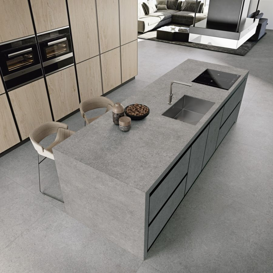 Porfido Brown, Sand, Taupe, Graphite Large Coverlam Tile