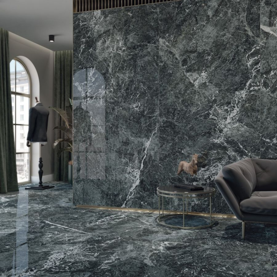 Saint Denis Verde Large Coverlam Tile