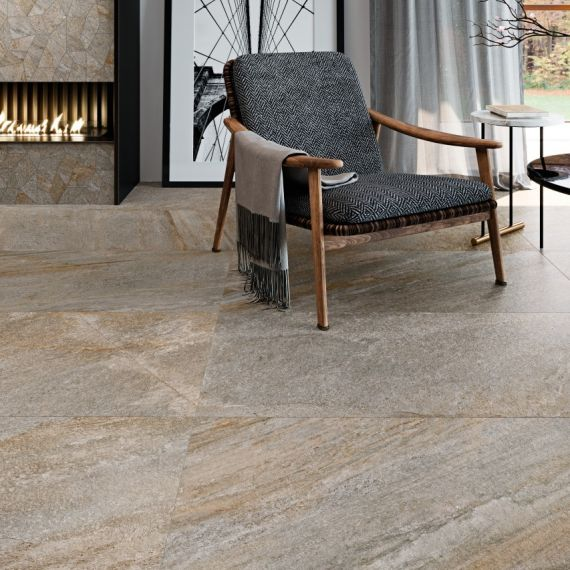 Indiana Multicolour Stone Effect Floor Tile